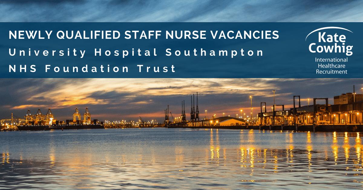 NHS Staff Nurse Jobs in University Hospital Southampton NHS