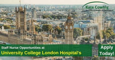 Vacancies for Staff Nurses at University College London Hospitals